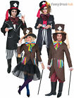 Dark Mad Hatter Costume Men Ladies Alice In Wonderland Fancy Dress Couples Film