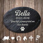 Pet Memorial Plaque Personalised Engraved Natural Slate Stone for Dog Cat Pig