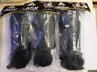 1 Black shin pads with ankle guard all sports football hockey martial art 3 size