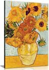 Van Gogh Sunflowers Canvas Wall Art Picture Print