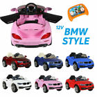 KIDS BMW STYLE RIDE ON CAR ELECTRIC 12V BATTERY REMOTE CONTROL TOY CAR / CARS
