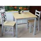 Wooden Dining Table and 2 Chairs Small Set Dining Room Kitchen Furniture