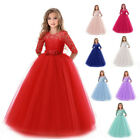 Flower Girl Dress Princess Party Wedding Bridesmaid Kid Formal Gown Long Dresses