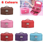 LARGE Vanity Case Beauty JEWELLERY BOX LEATHER FINISH JEWELRY STORAGE 1 DRAWER