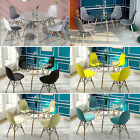 Round Dining Table And 4 Chairs Set Kitchen Dining Room Wooden & Glass Lounge