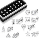 Assorted Shape Stud Earrings with Crystals from Swarovski®