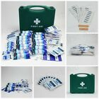 HSE First Aid Kit in Box & Refills for 1- 50 Person Kits, Saline Wipes, Plasters
