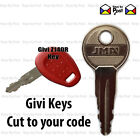 GIVI TOP BOX and PANNIER KEY - USED ON Z140R LOCKS ONLY Codes 001 to 200