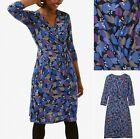 EX WHITE STUFF Anet Blue Dress Wrap Jersey. Sizes 6,8,10,12,14,16,18