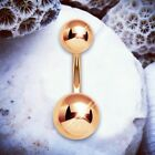 BASIC Belly Bars Rose Gold Belly Button Ring Simple Silver Navel Piercings UK