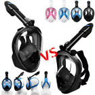 2019 Version Full Face Diving Snorkel Mask Swimming Water Sports Security Buckle