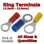 Insulated Ring Terminals - Electrical Splice Crimp Connector Eyelet Terminal