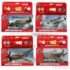 Airfix 1:72 Model Kits Starter Sets Paint Brush Cement Spitfire Plane Aircraft