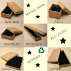 Natural Brown Plain Jewellery Gift Box Ring Necklace Bracelet Earrings ALL SIZES