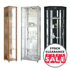 Ex Display HOME Glass Display Cabinet Single Double Corner Silver Oak Beech M
