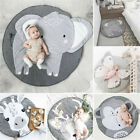 Baby Crawling Blanket Cute Round Play Mat Floor Rug Kids Floor Activity Play Mat
