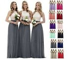 Lace Chiffon Long Bridesmaid Wedding Evening Formal Dress Party Prom Ball Gown
