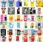 For iPhone 4 5 5C SE 6 6S 7 8 3D Hot Cute Cartoon Soft Silicone Phone Case Cover