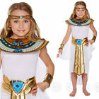 GIRLS EGYPTIAN QUEEN FANCY DRESS COSTUME EGYPT CHILDS CLEOPATRA KIDS OUTFIT NEW