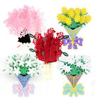 3D Flower Pop Up Birthday Mothers Day Get Well Card UK Seller