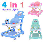 4 in 1 New Baby Walker First Steps Push Along Bouncer Activity Lights Music Car