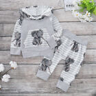 Newborn Baby Boy Hooded Tops+Pants Tracksuit Trousers Outfits Clothes Sets 0-18M