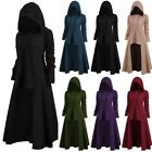 Women Cosplay Hooded Dress Medieval Gothic Dress Vintage Performance Clothing UK