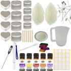 Eco Soy Candle Making Kit 16 - Beginner Set In Tins Floral Fragrance & Colour