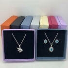Gift Box Necklace Earrings Present Gift Jewellery Wholesale Bulk Buy Square