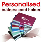 Personalised Business Card Holder * laser engraved * name, text, logo