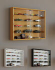 Glass Display Cabinet Wall Mounted Wide Large Toys Vapes Various Colours