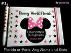Personalised Minnie Mouse Autograph Book Disneyland or Disney World Pocket Size