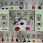 Personalised Glitter Wine Glass - Birthday Present, Mother s day, Christmas Gift