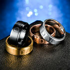 Mens silver gold black wedding engraved  DAD  ring band MANY SIZES K - Z4  MN9