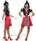 4-22 Queen of Hearts Costume Ladies Fancy Dress Alice In Wonderland Halloween