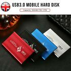 2.5   USB 3.0 2TB External Hard Drive Disk HDD Fit For PC Laptop Portable UK