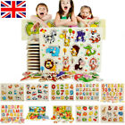 Wooden Animal Letter Jigsaw Puzzles Early Learning Baby Kids Educational Toys UK