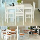Modern Dining table and 2 / 4 chairs Set Solid Wooden Home Kitchen Furniture New