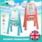 Child Magnetic Drawing Board Easel Double Sided Folding Kids Doodle Sketchpad