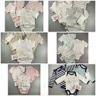 3 x baby boys girls unisex vertbaudet organic cotton vests bodysuits 0 - 3 years