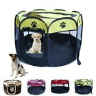 UK Large Pet Dog Cat Playpen Tent Oxford Fabric Fence Kennel Cage Crate Portable
