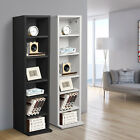 Black White DVD Storage Tower Rack CD unit shelf organizer archieve wood