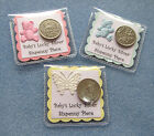 Lucky  Silver  Sixpence Gift. New Baby*Baby Shower*Christening*Girl*Boy*Neutral