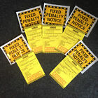 5 JOKE FAKE PRANK PARKING TICKETS!! BEST ON EBAY!!!