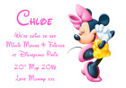 WE ARE GOING TO DISNEYLAND PERSONALISED VOUCHER CARD PARIS FLORIDA TICKET #8