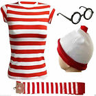 New Women s Wheres Wally Kit Strips Book Day Fancy Dress Costume Outfit XS-XXL
