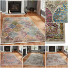 TRADITIONAL TRELLIS FADED DISTRESSED ANTIQUE LOOK EXTRA LARGE QUALITY THINK RUG