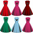 Women s Vintage Retro Swing Rockabilly Dress Ladies 1950s 60s Evening Party Prom