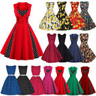 Women 50s 60s Vintage Retro Pinup Swing Evening Party Rockabilly Work Dresses