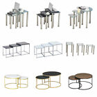 Nest of 3 Nested Tables Glass High Gloss Top Coffee Table Side End Table Home BN